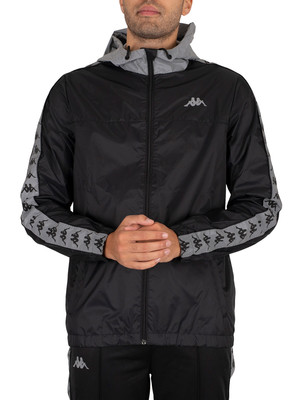 Kappa 222 Banda John Jacket - Black/Grey Reflective