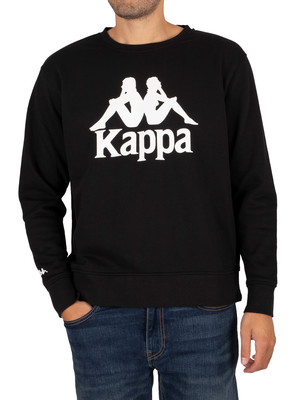Kappa Authentic Telas 2 Oversized Sweatshirt - Black/White