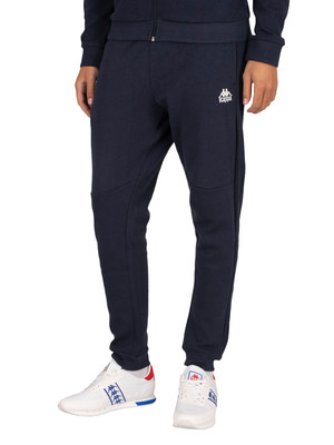 Kappa Ileandre Slim Joggers - Blue Navy/White Natural