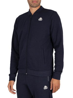 Kappa Isidor Auth Slim Track Jacket - Blue Navy/White Natural