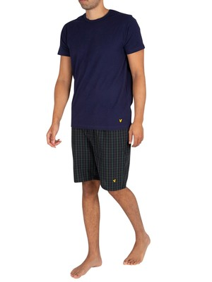 Lyle & Scott Kyle Pyjama Short Set - Peacoat/Pine Grove