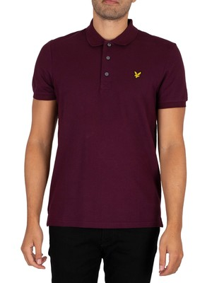 Lyle & Scott Logo Polo Shirt - Burgundy