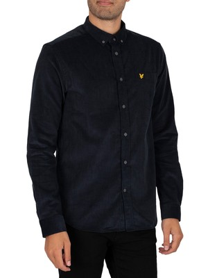 Lyle & Scott Needle Cord Longsleeved Shirt - Dark Navy