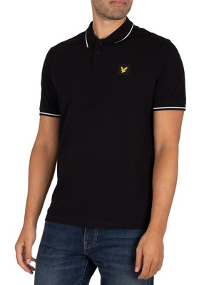Lyle & Scott Relaxed Tipped Polo Shirt - Jet Black