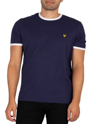Lyle & Scott Ringer T-Shirt - Navy/White