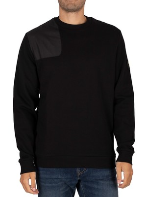 Lyle & Scott Ripstop Applique Sweatshirt - Jet Black