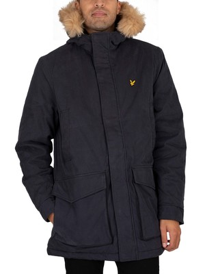 Lyle & Scott Winter Weight Microfleece Lined Parka Jacket - Dark Navy