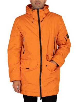 Lyle & Scott Zip Detail Parka Jacket - Risk Orange