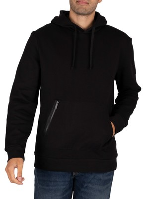 Lyle & Scott Zip Pocket Pullover Hoodie - Jet Black