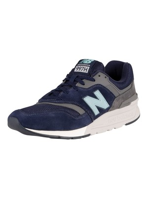New Balance 997H Suede Trainers - Outerspace/Pigment