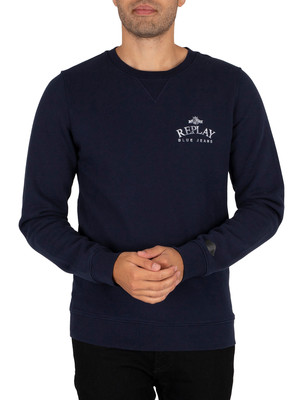 Replay Logo Sweatshirt - Navy