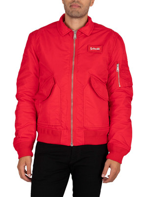 Schott Bomber Jacket - Red