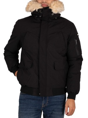 Schott Keyburn Parka Jacket - Black