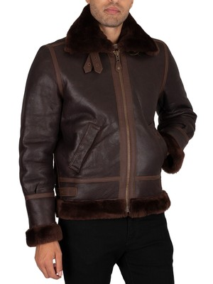 Schott 1259 Leather Jacket - Auburn