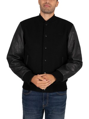 Schott USA Jacket - Black/Black