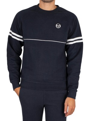 Sergio Tacchini Orion Sweatshirt - Navy/White