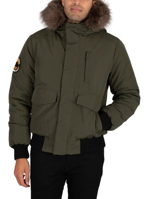 Superdry Everest Bomber Parka Jacket - Army Green