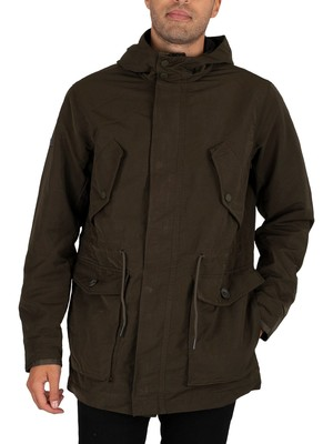 Superdry Field Parka Jacket - Dark Khaki