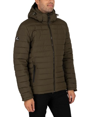 Superdry Hooded Fuji Jacket - Army Green