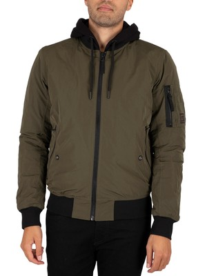 Superdry Military Flight Bomber Jacket - Dark Khaki