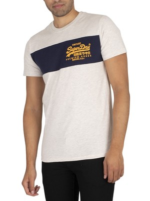 Superdry Panel T-Shirt - Queen Marl