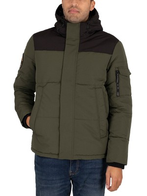 Superdry Quilted Everest Jacket - Army Green