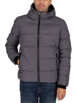Superdry Sports Puffer Jacket - Black Marl