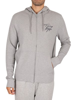 Tommy Hilfiger Lounge Zip Hoodie - Grey Heather