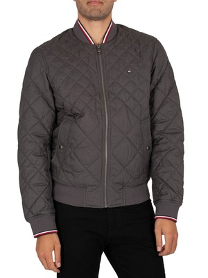 Tommy Hilfiger Reversible Quilted Bomber Jacket - Dark Ash