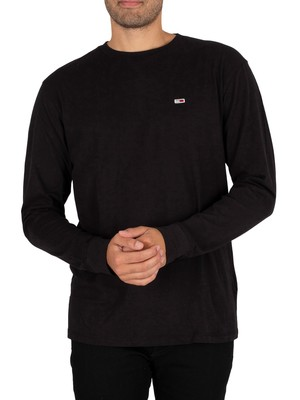 Tommy Jeans Classic Longsleeved T-Shirt - Black