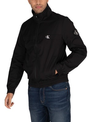 Calvin Klein Jeans Zip Up Harrington Jacket - Black