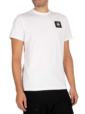 G-Star Badge Logo T-Shirt - White