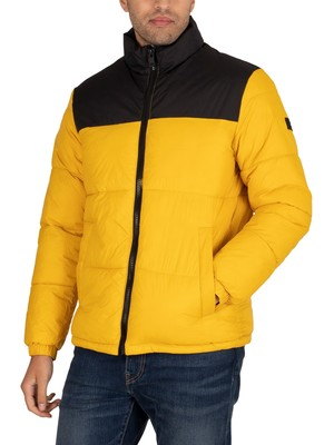 Jack & Jones Drew Puffer Collar Jacket - Spicy Mustard