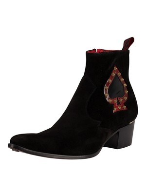 Jeffery West Chelsea Suede Boots - Black