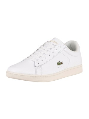 Lacoste Carnaby Evo 0120 2 SMA Leather Trainers - White/Black