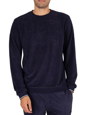 Lacoste Lounge Terry Sweatshirt - Navy Blue