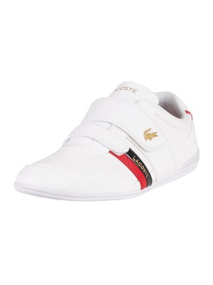 Lacoste Misano Strap 0120 1 CMA Leather Trainers - White/Red