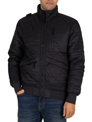 MA.STRUM Polygon Quilt Jacket - Jet Black