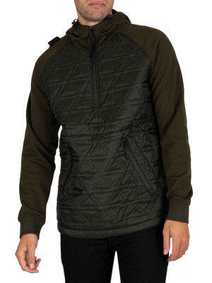 MA.STRUM Polygon Quilt Tech Fleece Overhead Jacket - Oil Slick