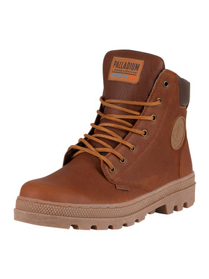 Palladium Pallabosse Sport Cuff Waterproof Leather Boots - Cathay Spice/Chocolate Brown/Mid Gum