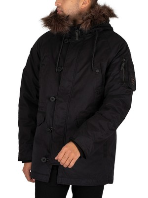 Superdry SDX Parka Jacket - Black