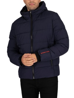 Superdry Sports Puffer Jacket - Navy/Black
