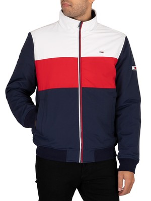 Tommy Jeans Colourblock Padded Jacket - Twilight Navy