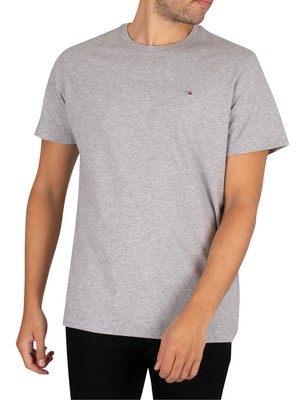 Tommy Jeans Original Jersey T-Shirt - Light Grey Heather