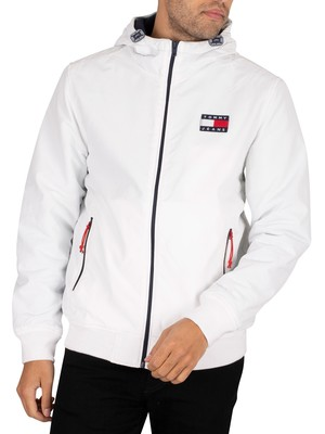 Tommy Jeans Padded Nylon Jacket - White