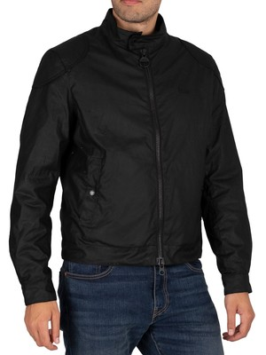 Barbour International Stove Wax Jacket - Black