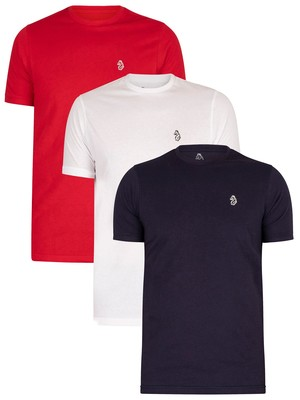 Luke 1977 Johnys 3 Pack T-Shirt - Red/White/Navy