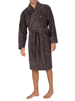 Lyle & Scott Lucas Towelling Robe - Grey