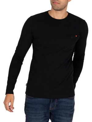 Superdry Longsleeved Vintage T-Shirt - Black