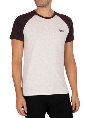 Superdry OL Baseball T-Shirt - Queen Marl